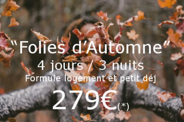 Promo folies d'automne Guernesey Sark séjour 4jours/3nuits