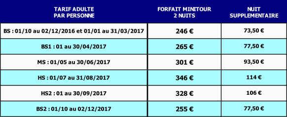 tarifs hotel de France à Jersey