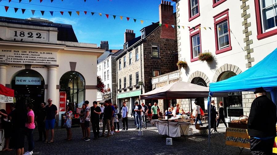 Centre ville de St-peter Guernesey