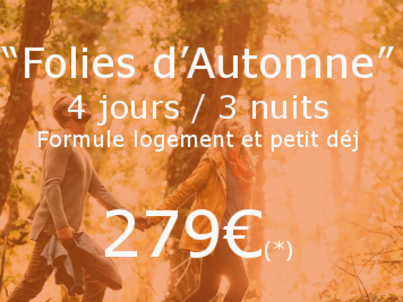 Promo folies d'automne Guernesey Sark 4jours/3nuits