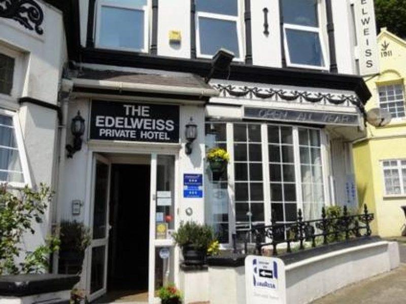devanture edelweiss guest house ile de man